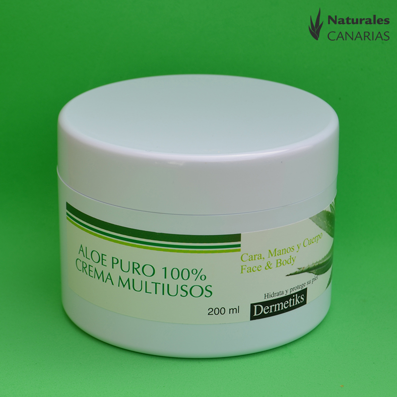 aloe vera creme 100 dermetiks naturales canarias aloe vera shop. Black Bedroom Furniture Sets. Home Design Ideas